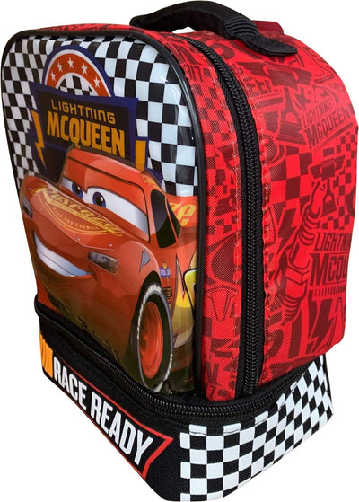 Cars 3 Lightning McQueen Dual Compartment Lunch Bag - Disney Pixar - Red