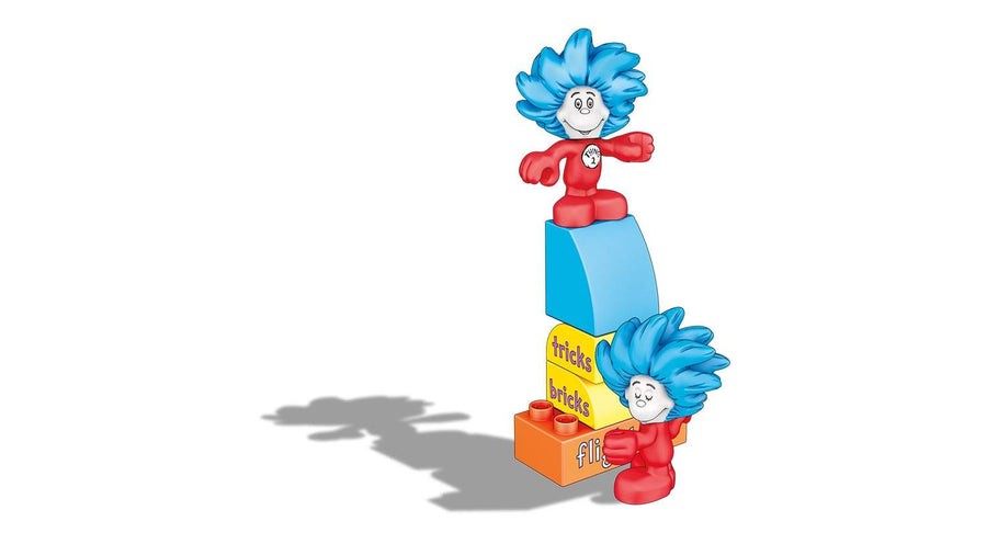 Dr Seuss Thing 1 and Thing 2 Tricks Mega Bloks 29 pieces