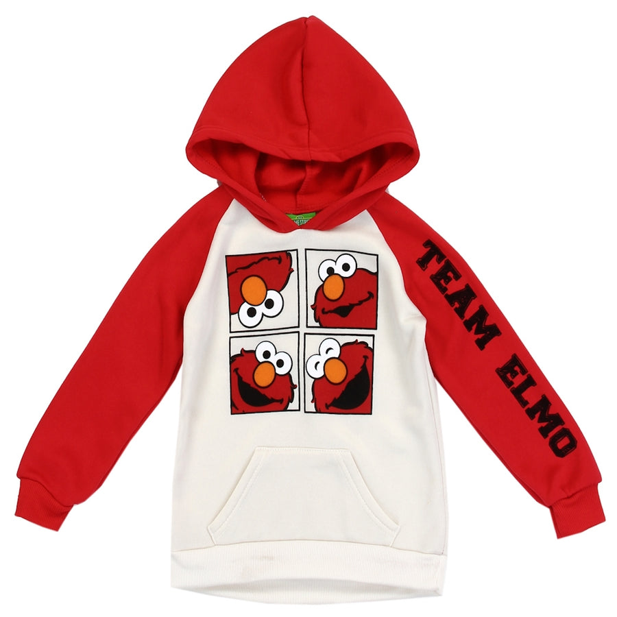 Sesame Street Elmo Girls' Toddler Pullover Fleece Hoodie - Red - Sizes 2T, 3T, and 4T