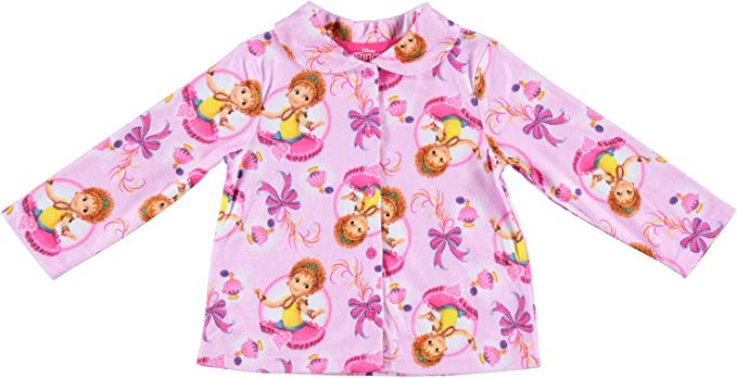 Disney Little Big Girls' Fancy Nancy 2-Piece Long Sleeve Pajama Sleepwear Set, Pink, Sizes 4, 6, 8, & 10