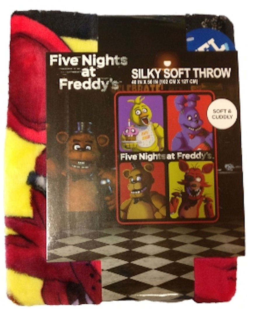 "Five Nights at Freddy's Silky Soft Throw Blanket, 48"" x 60"""