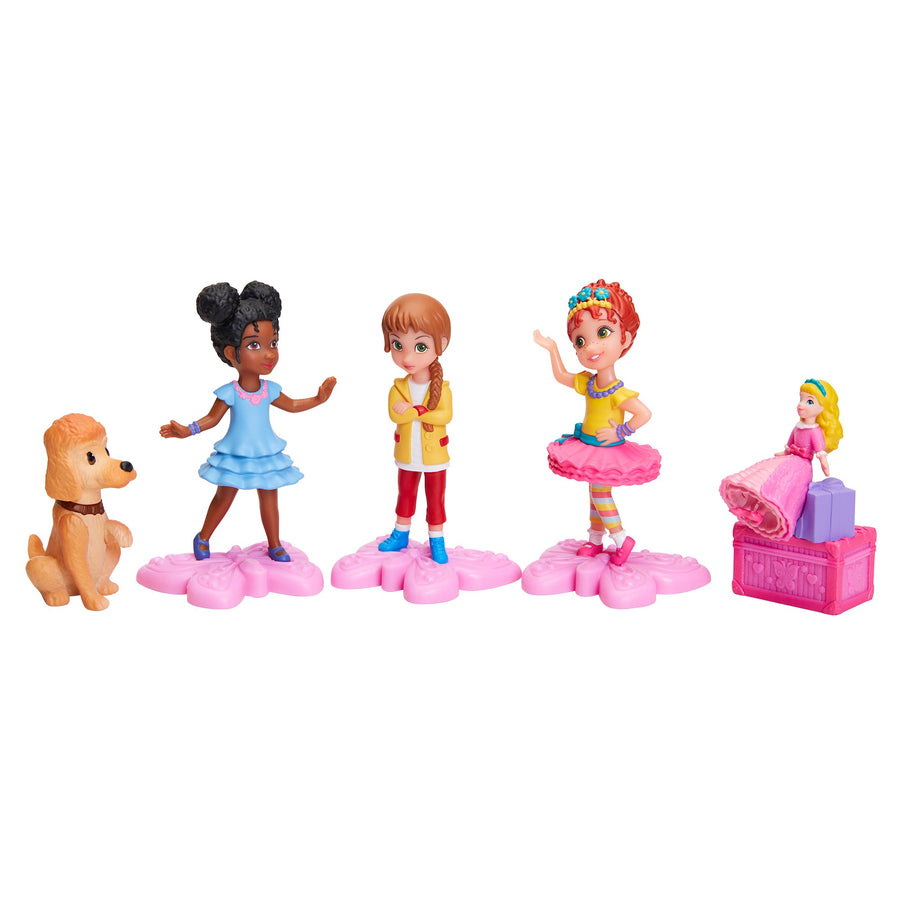 Disney Junior Fancy Nancy 5PC Figurine Play Set - Fancy Nancy, Bree, Grace, Marabelle and Frenchy