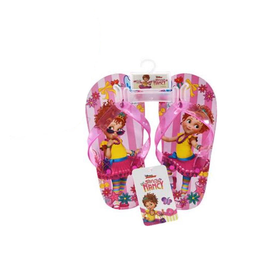 Disney Junior Fancy Nancy Flip Flop and Swim Goggle Bundle Set - Pink