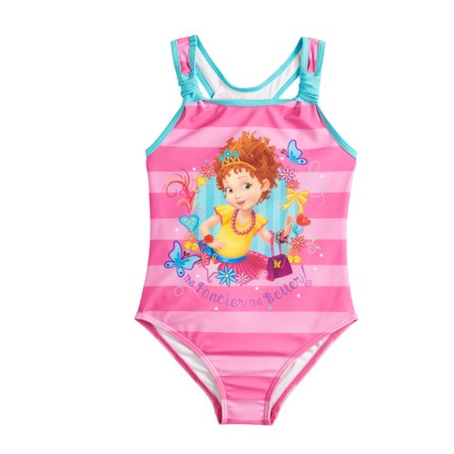 Disney Fancy Nancy Big Girls' One Piece The Fancier The Better Swimsuit - Pink