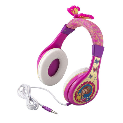 Fancy Nancy Headphones for Kids with Built in Volume Limiting Feature for Kid Friendly Safe Listening