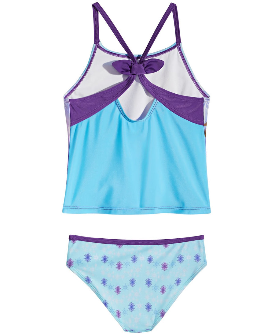 Frozen 2 Tankini 2PC Swimsuit Little Girls Swimwear - Blue/Purple - Sizes 4, 5/6 and 6X