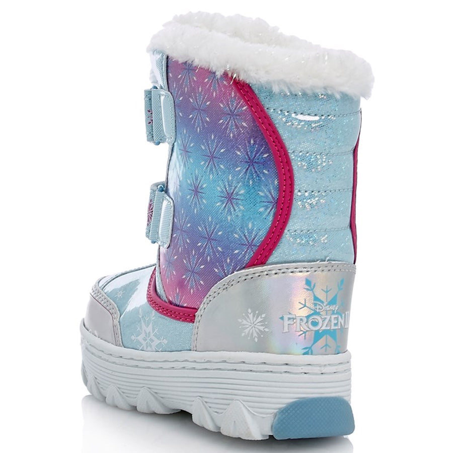 Frozen 2 Toddler Girl Faux Fur Trim Cold Weather Boots - Blue - Sizes 6, 7, 8, 9, and 10