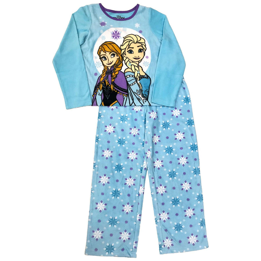 Frozen Girls' 3-Piece Fleece Pajama Set with Hooded Bathrobe - Sizes 4, 6, and 8
