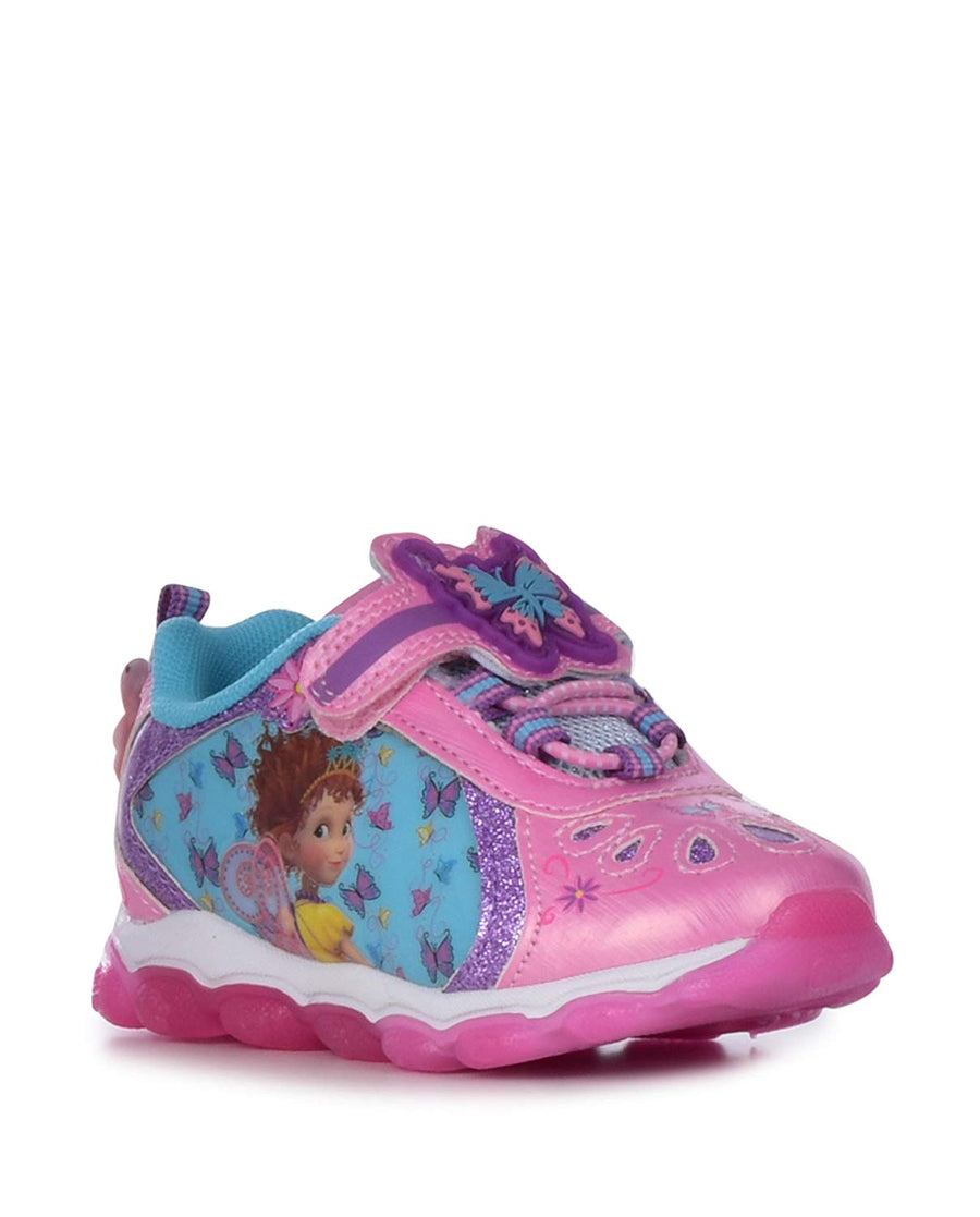 Disney Fancy Nancy Light-up Sneakers For Toddler and Little Girls, Sizes 7, 8, 9, 10, 11, 12