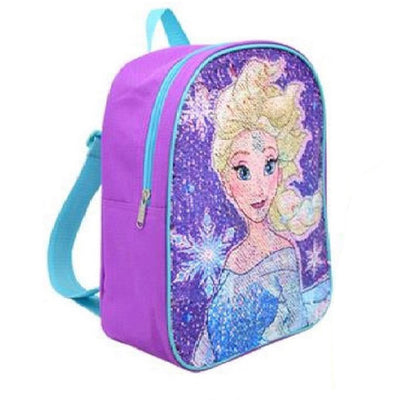 "Frozen Elsa and Anna Reversible Sequin 12"" Mini Backpack For Girls' - Purple"