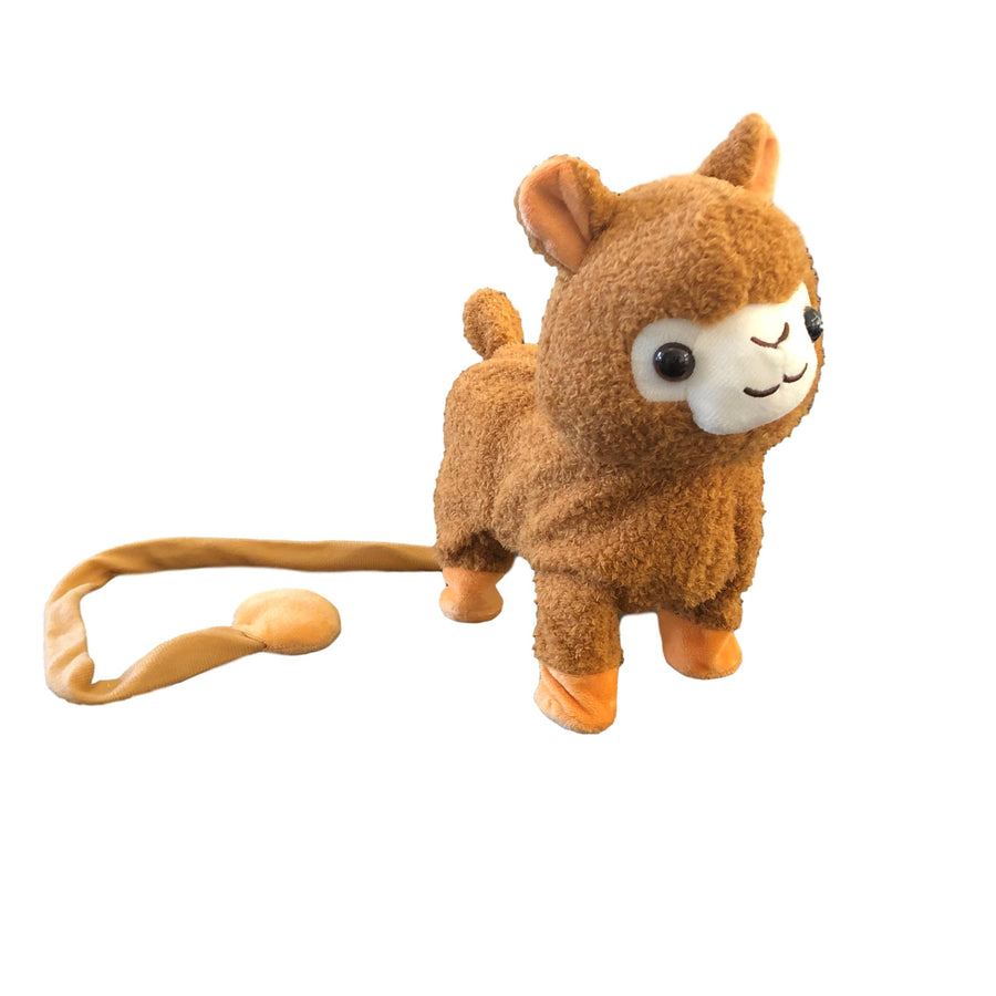 Llama Plush Toy Electronic Musical Singing Walking Interactive Pet Toy Llama with Leash