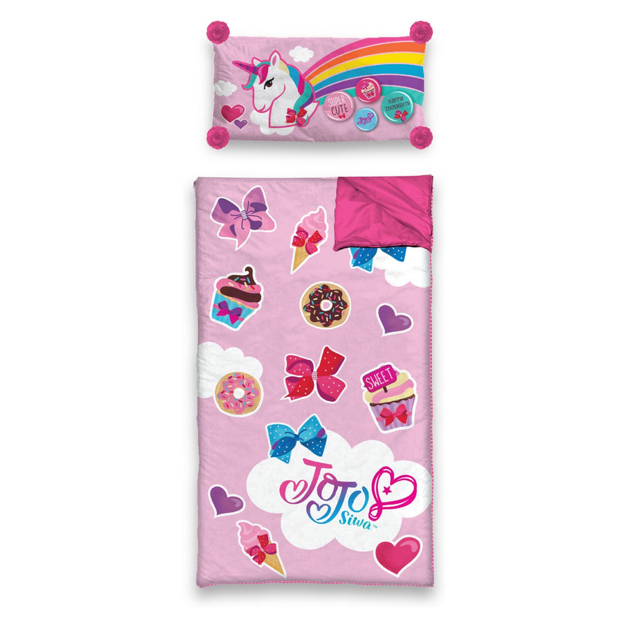 JoJo Siwa 2pc Slumber Sleeping Bag and Pillow Set - Pink