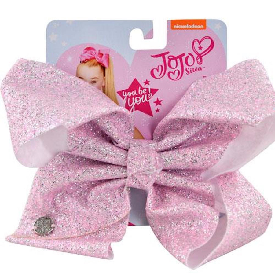 Nickelodeon JoJo Siwa Large Light Pink Shimmer Glitter Signature Hair Bow