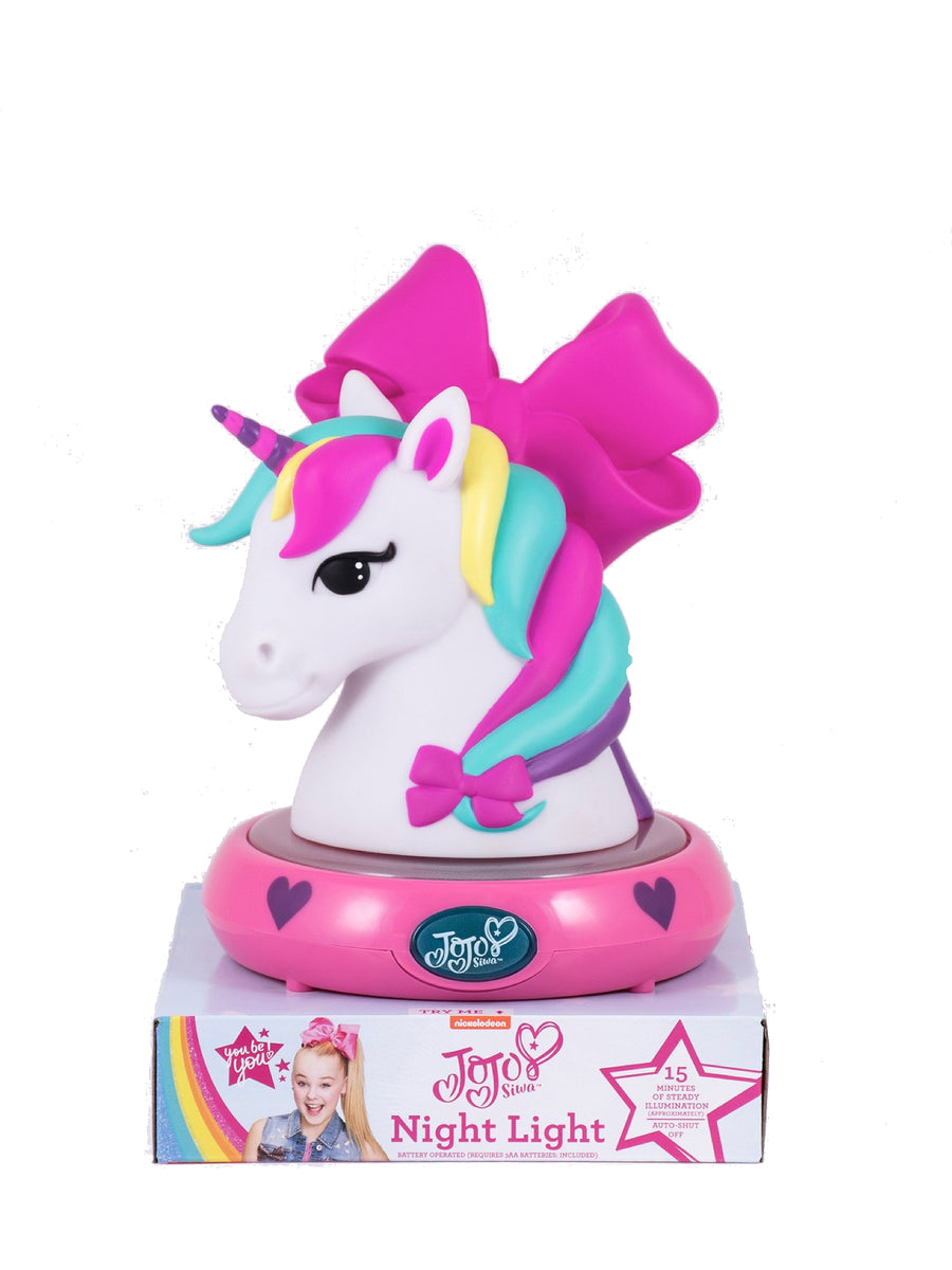 JoJo Siwa 3D NightLight Unicorn Figurine Lamp