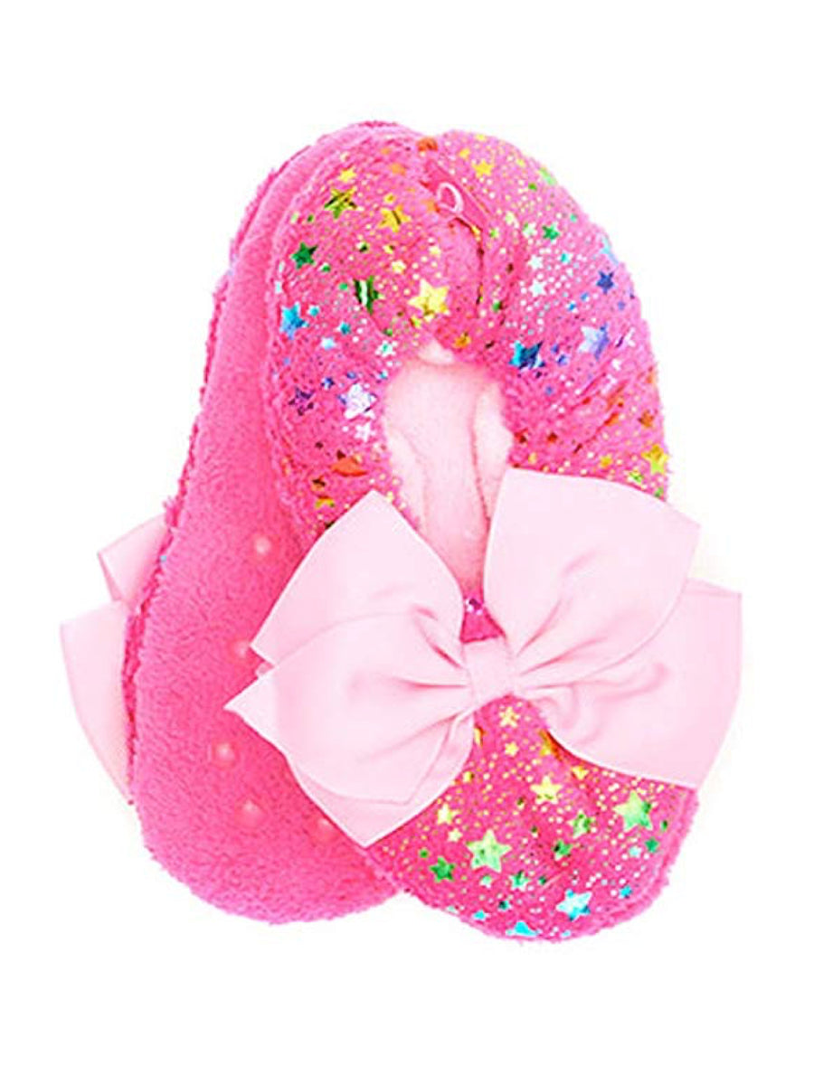 Nickelodeon JoJo Siwa Girls Slipper Socks Sparkly Babba Slippers, Sizes S/M & M/L, Pink