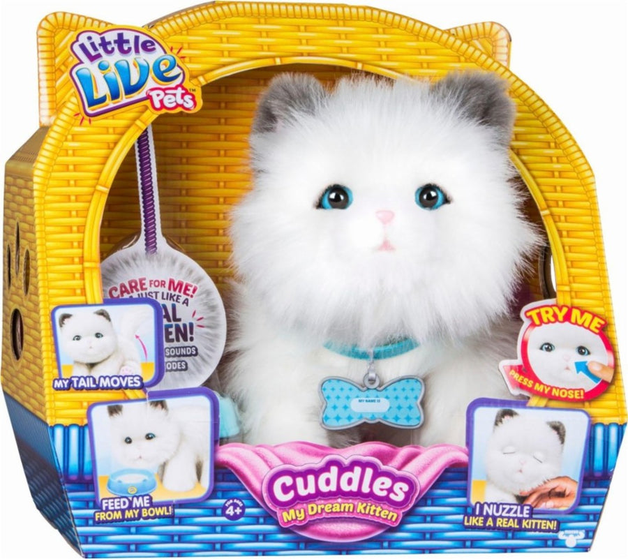 Little Live Pets Cuddles My Dream Kitten, White