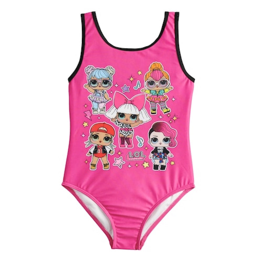 L.O.L. Surprise! Big Girls' One Piece Swimsuit - Bright Pink