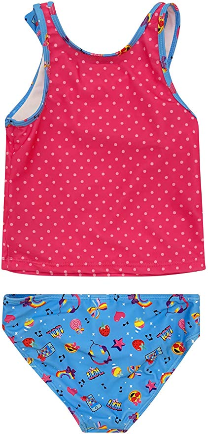 JoJo Siwa Character LOL Tankini Top & Bottom Swimsuit Set - Pink/Blue - Sizes 4, 5/6 and 6X