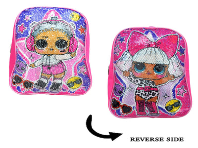 "L.O.L. Surprise Reversible Sequin 12"" Small Mini Backpack For Girls' - Pink"
