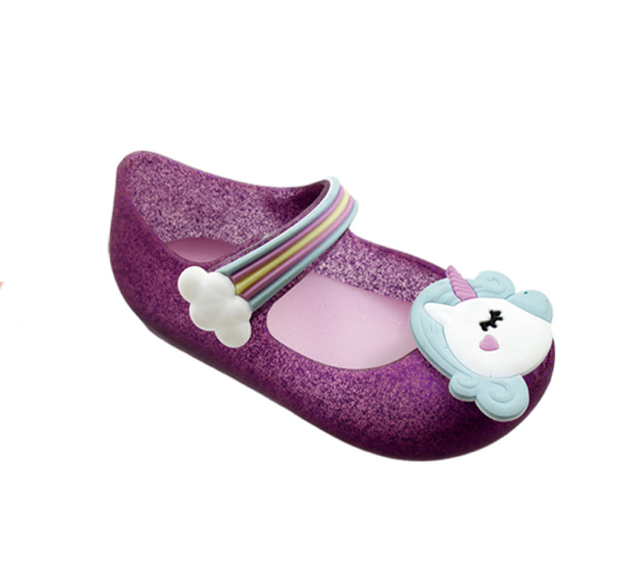 P&W Mary Jane Toddler Girls' Unicorn Glitter Jelly Shoes - Assorted colors - Sizes 5-10