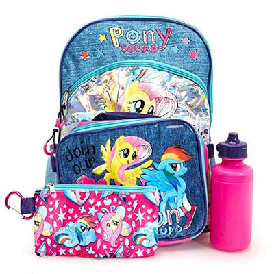 "My Little Pony 5-Piece Pony Squad 16"" Backpack Value Set - Multi Value Bundle"