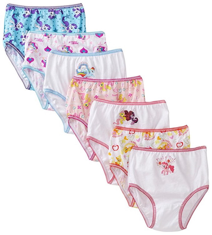 Handcraft Little Girls' My Little Pony 7-Pack Underwear Briefs, Multi, Size 2T/3T & 4T