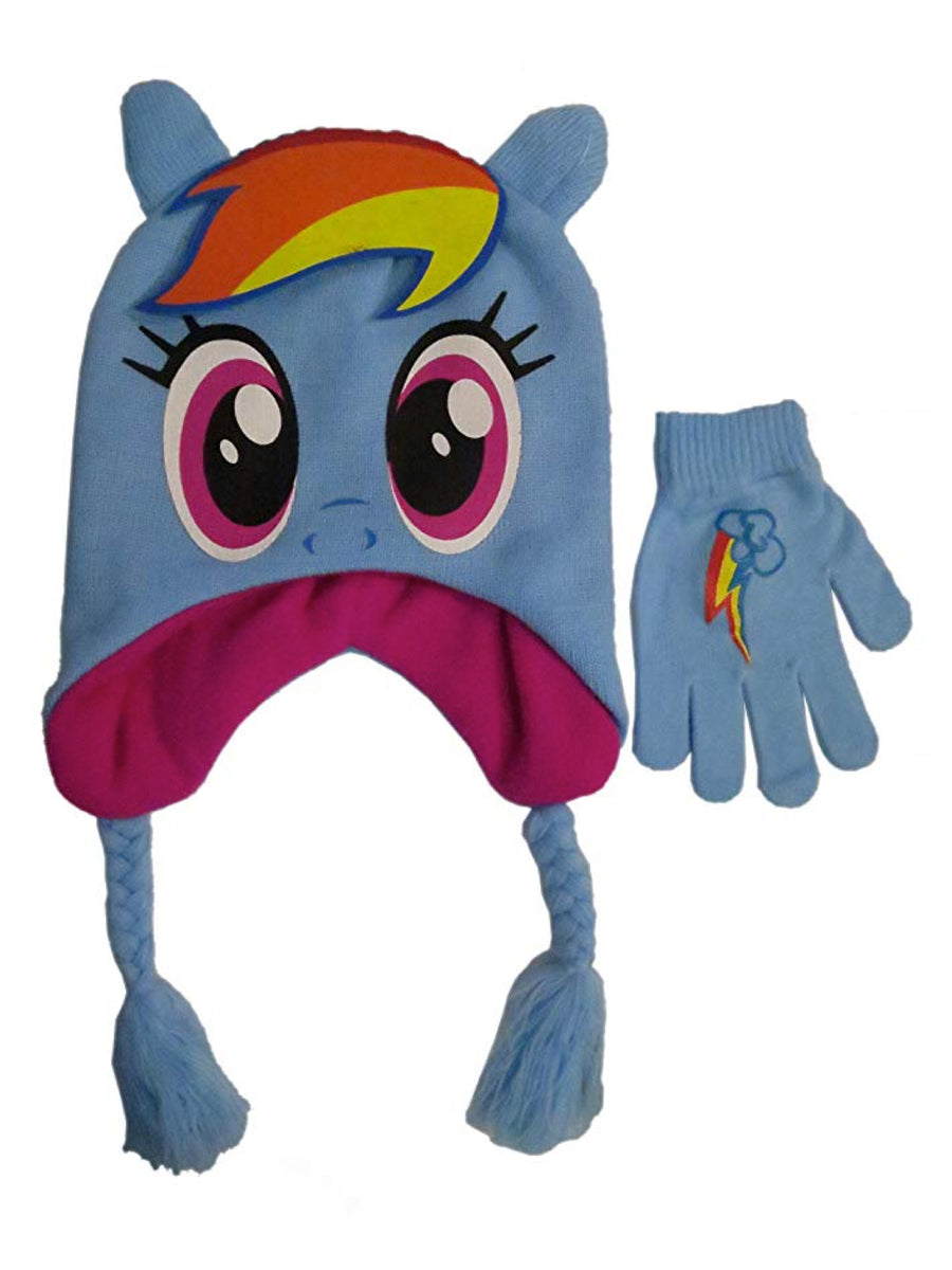 My Little Pony Girls' Scandinavian Winter Hat and Glove Set, Size 4-14
