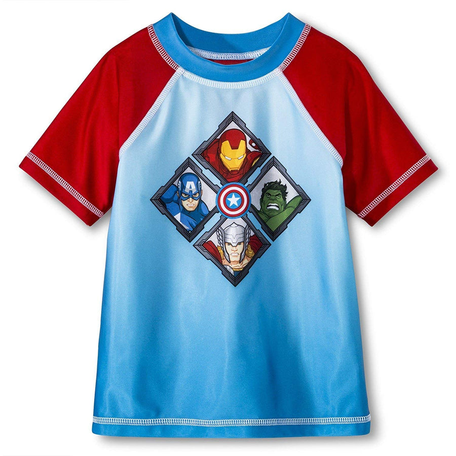 Marvel Avengers Toddler Boys Rash Guard, Size 2T