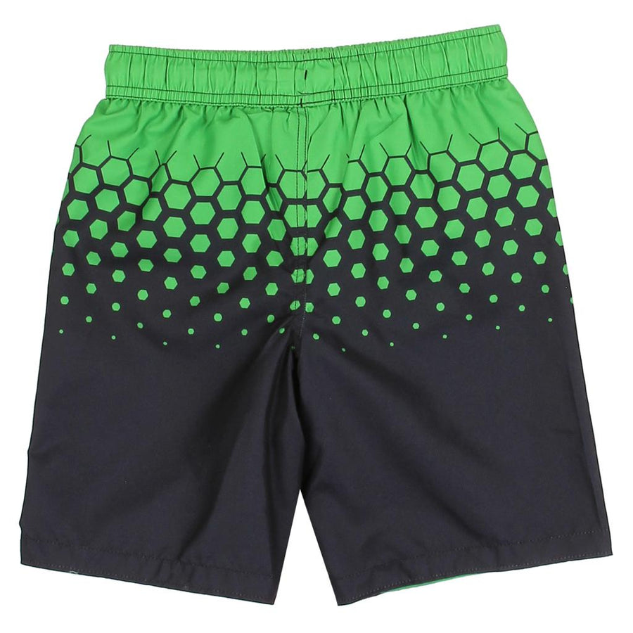 Minecraft Little/Big Boys' Green Creeper Board Short Swim Trunk Swimwear - Black/Green - Sizes 4, 5/6 and 7