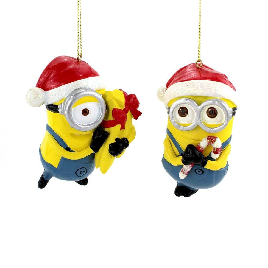 Universal Studios Despicable Me Minions Kurt Adler Ornament Set, 3.5-inch each