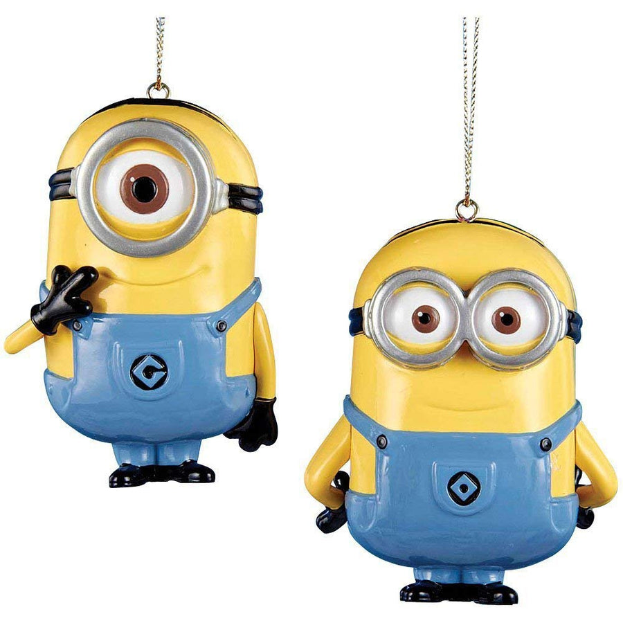 Despicable Me Dave and Carl Minion Kurt Adler Ornament, Set of 2