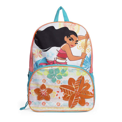 "Disney Moana Floral 16"" Kids Backpack - Multicolored"