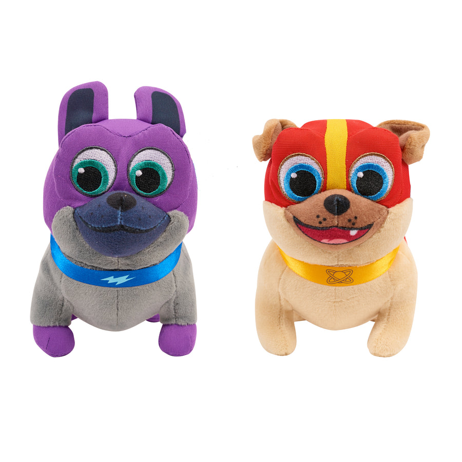 Puppy Dog Pals Plush Bingo and Rolly Toy 2 Pack Bundle, Two Different Styles - Regular Bingo & Rolly or Hero Bingo & Rolly