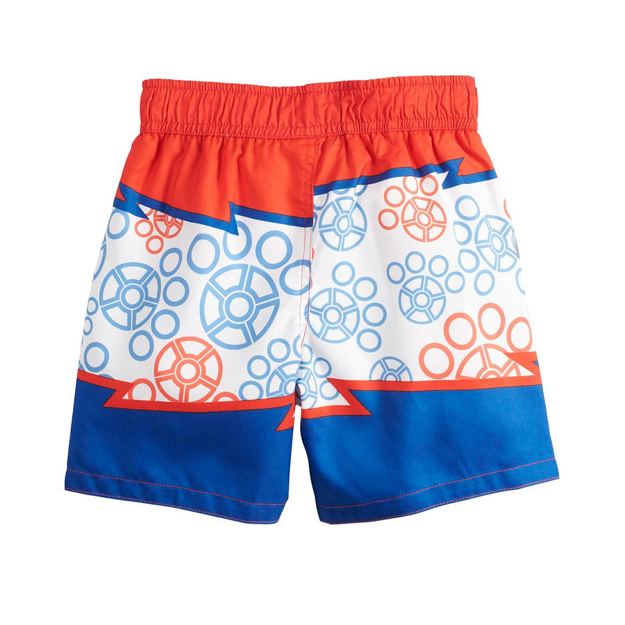 Puppy Dog Pals Toddler Boys' Bathing Suit Kids Swim Trunks, 2T-4T, Red Blue