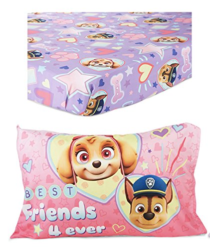 Paw Patrol Skye Toddler Bed Sheet and Pillowcase Set