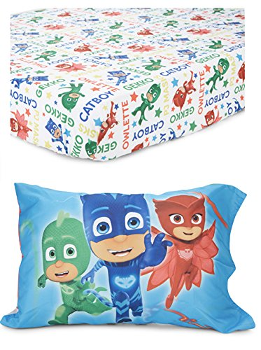 PJ Masks 2-Piece Toddler Bed Sheet and Pillowcase Set