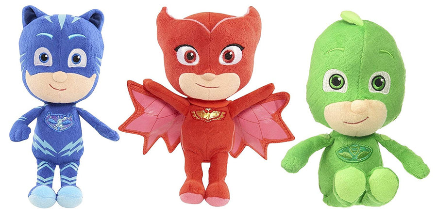 "PJ Masks Catboy, Gekko and Owlette 8.5"" Mini Plush - Set of 3"