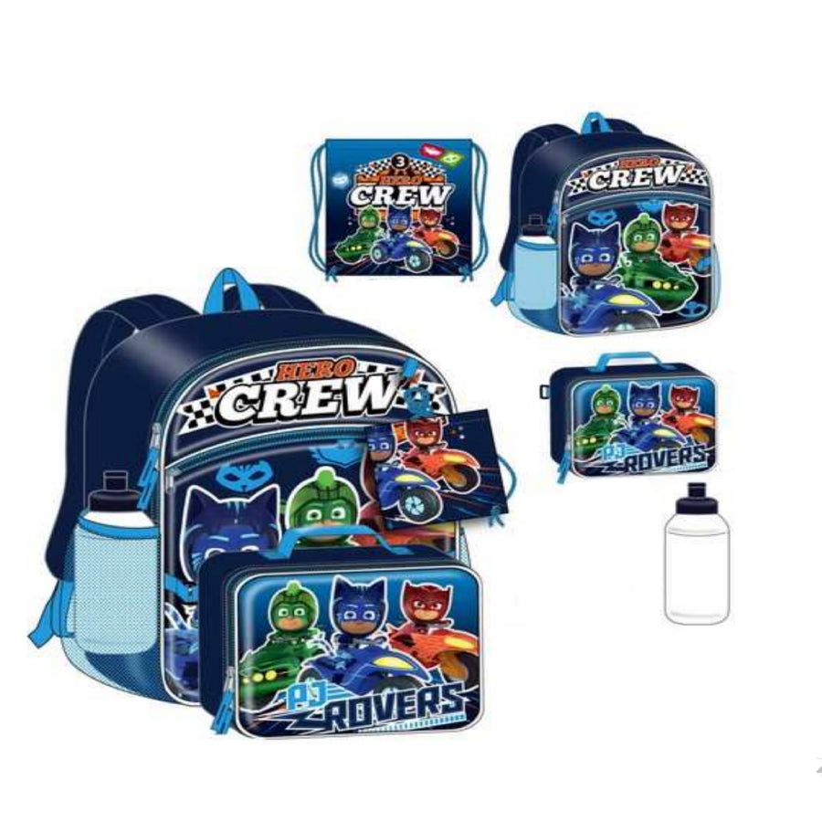 PJ Masks 5-Piece Backpack Set For Boys - 16 Inch - Disney Junior - Blue