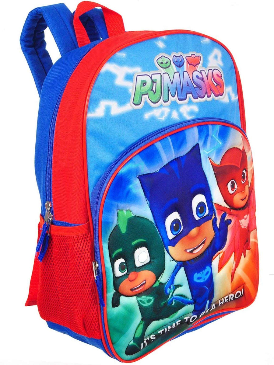 PJ Masks Gekko Catboy and Owlette 15 Inch Kids' School Backpack
