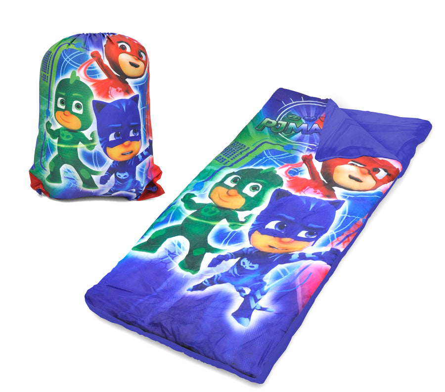 PJ Masks Kids Sleeping Bag with Bonus Sling Bag, Blue