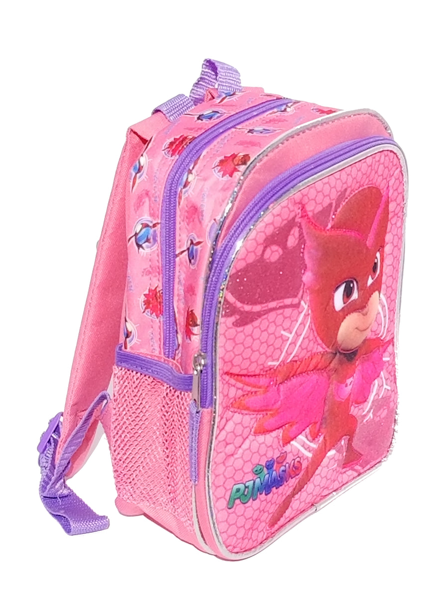 PJ Masks Girls' Mini Quilted Owlette Backpack Plus Bonus PJ Masks Paint Set - Multi Value Bundle