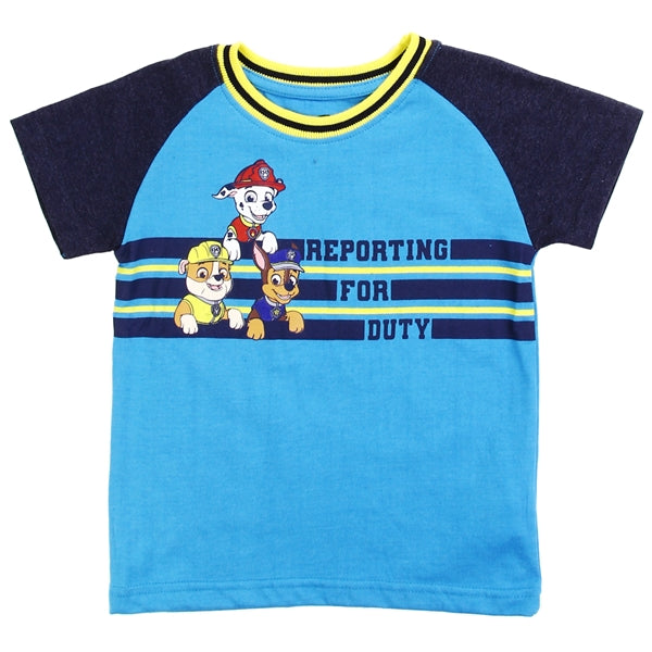 PAW Patrol Boys' T-Shirt Toddler Paw Patrol Graphic Tee, Blue