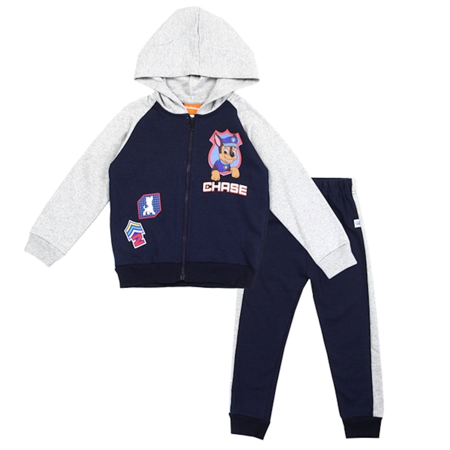 Paw Patrol Toddler Boys' 2pc Zip Up Fleece Hoodie and Jogger Pants Set, Navy