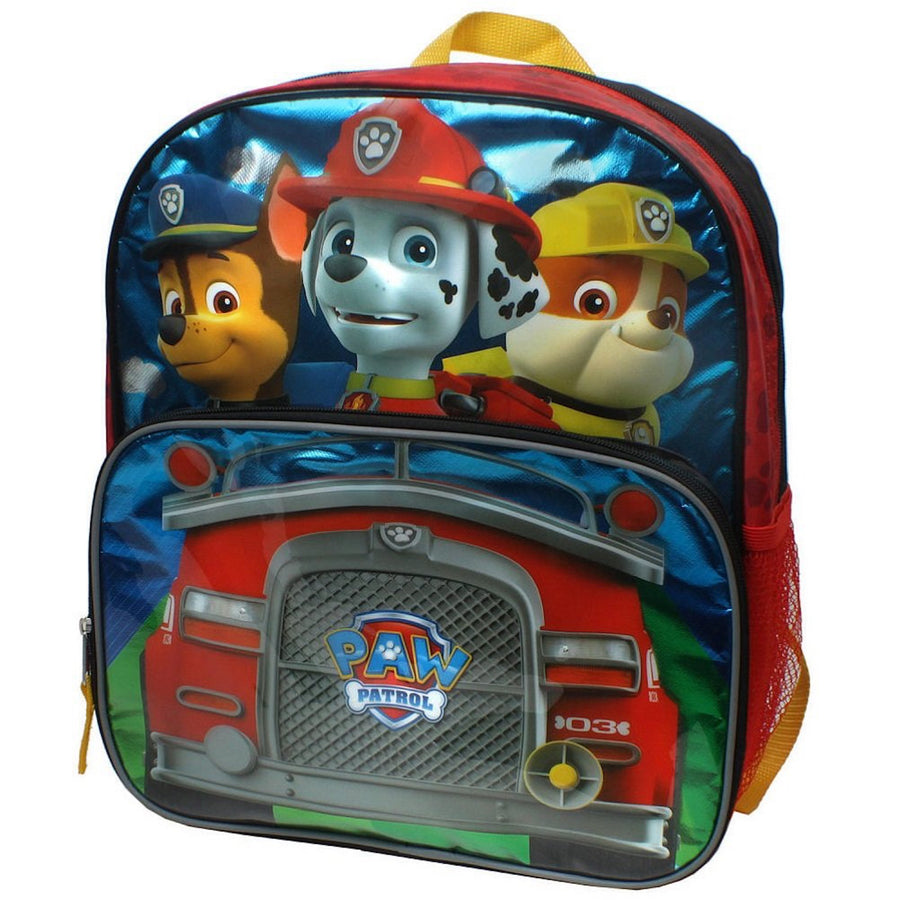 PAW Patrol Trucking Number 3 School Backpack 14 Inch Book Bag - Red