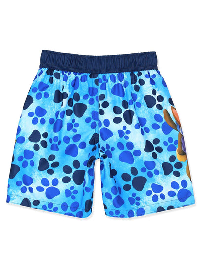 Paw Patrol Little Big Boys' Swim Trunks Swimwear, Blue, Sizes 4, 5/6, 7