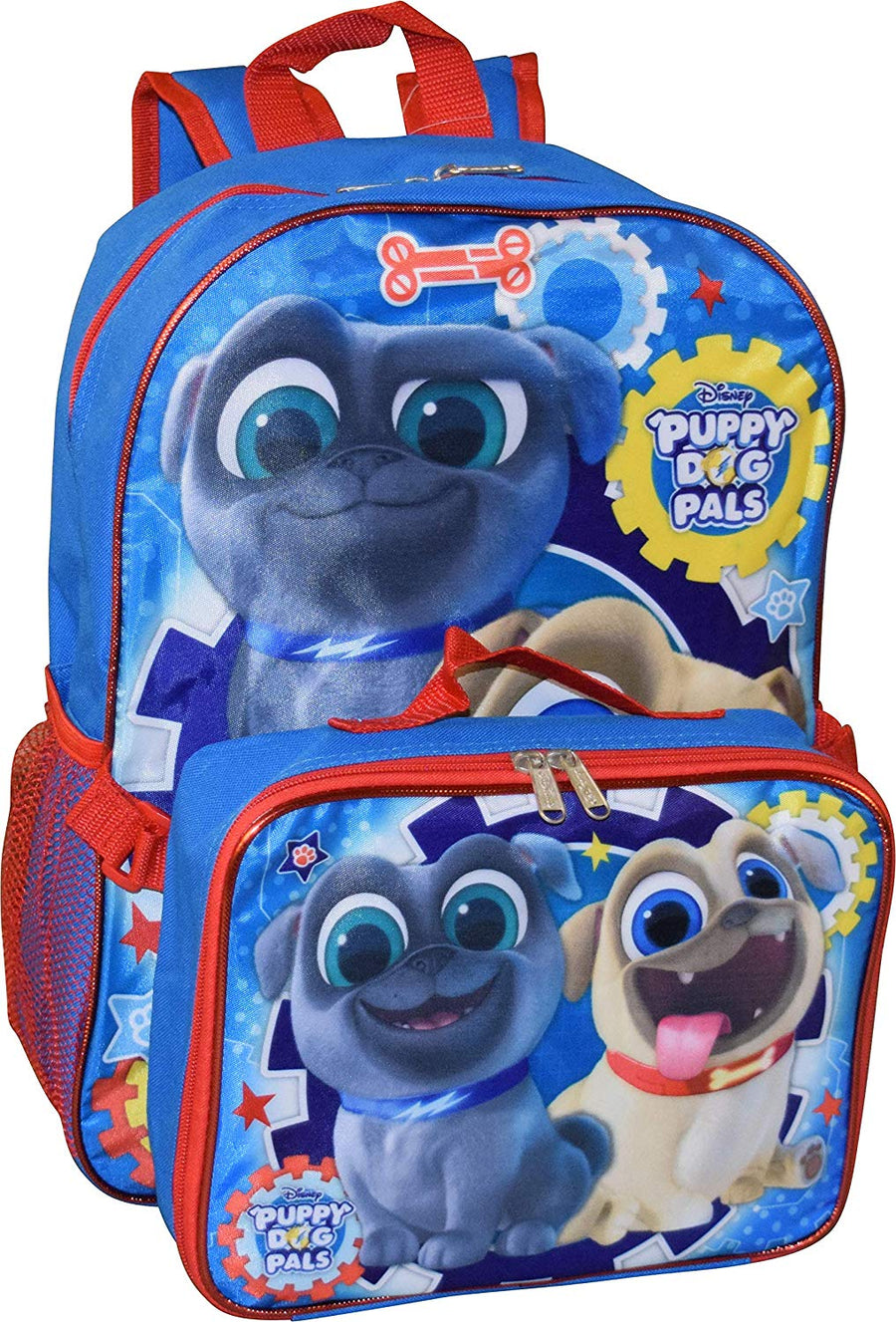 "Puppy Dog Pals 16"" School Bag Backpack-Detachable Lunch Bag-Grab & Go Play Pack Value Bundle Set"