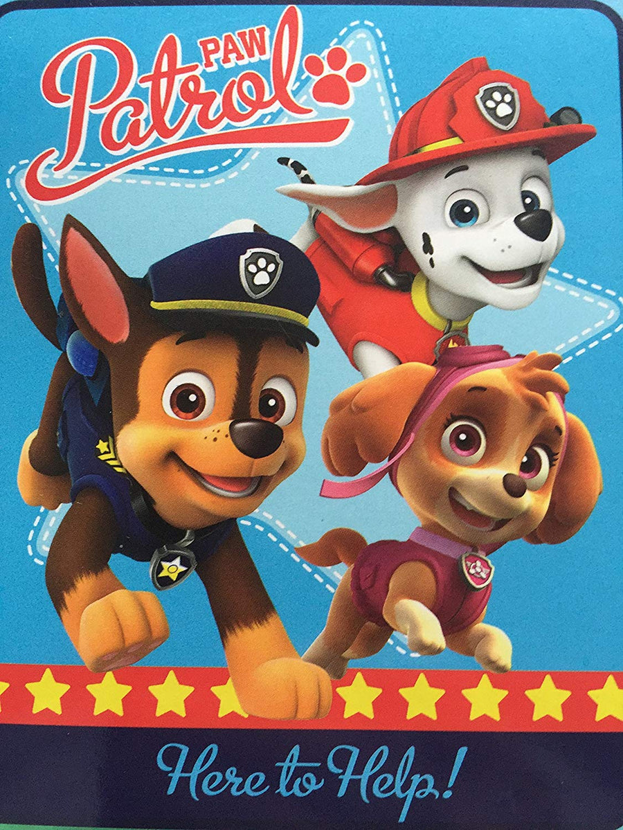 "Nick Jr PAW Patrol ""Here to Help!"" 40"" x 50"" Silky Soft Throw Blanket"