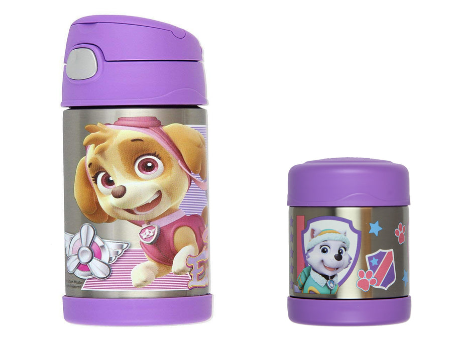PAW Patrol Thermos FUNtainer 10oz Food Jar and Insulated 12oz Straw Bottle Set Boy or Girl