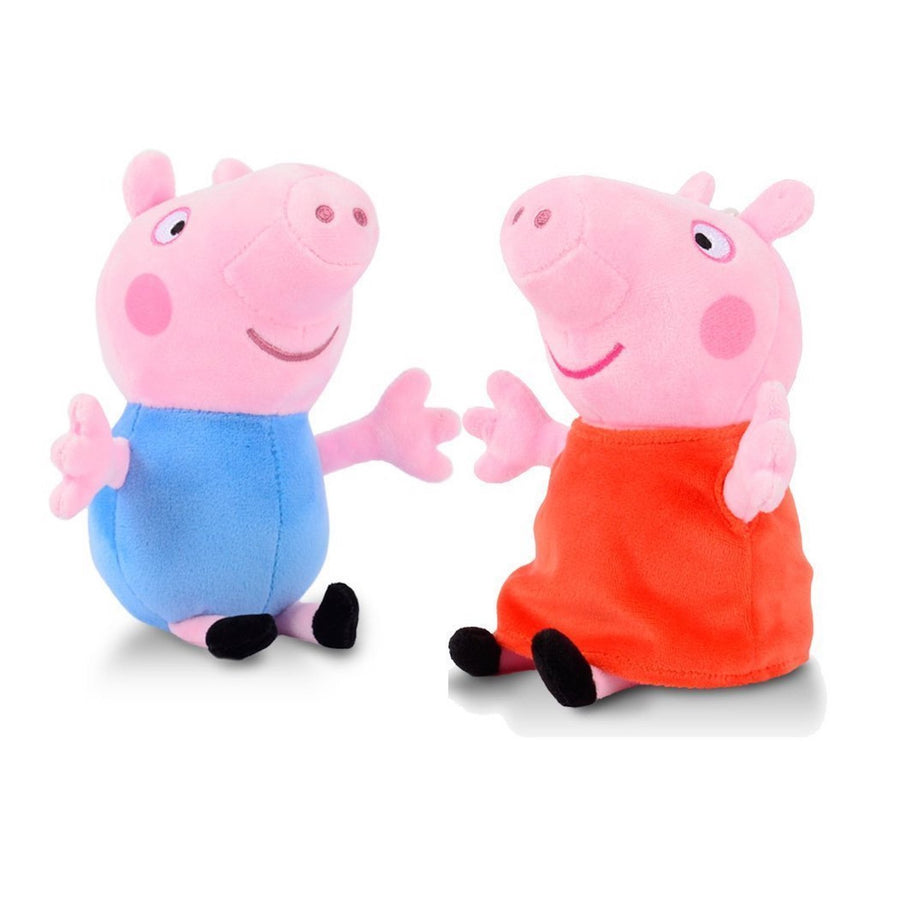 Peppa Pig and George 8 Inch Plush 2-Piece Collectible Bundle Set