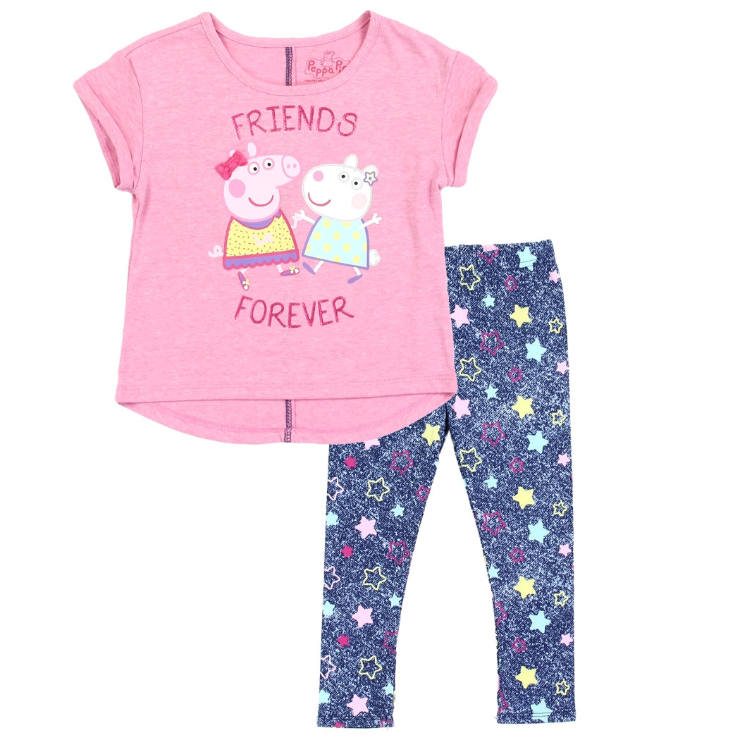 PEPPA PIG 3 PIECE OUTFIT SIZE 2T 3T 4T 5T NEW!